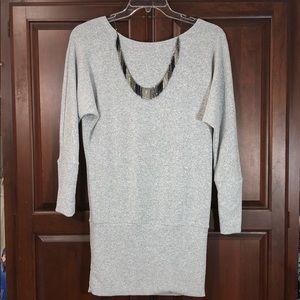 NWOT NOBLE U Soft Stretch Cozy Gray Knit Dress